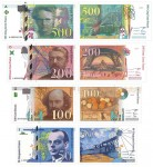 s70_Reproduktion - Banknotes Frankreich, 1993-2000