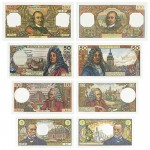 s72_Reproduktion - Banknotes Frankreich, 1962-1979