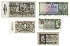 s14_Reproduktion - Banknotes Österreich, 1945-1947
