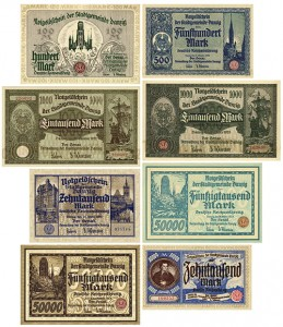 k35_Reproduktion - 100-10.000 Mark Banknote 1922-23 Danzig